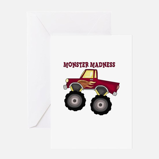 Monster Truck Madness Greeting Cards