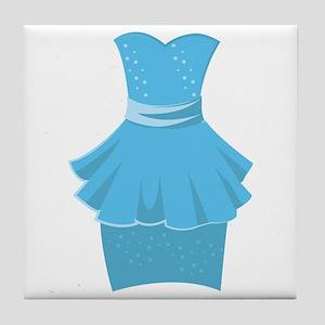 Blue Dress Tile Coaster