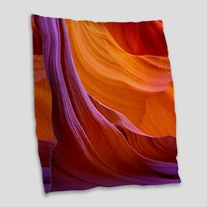 ANTELOPE CANYON 2 Burlap Throw Pillow