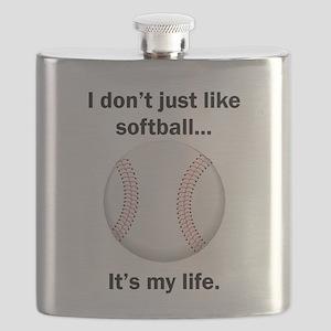 Softball Its My Life Flask