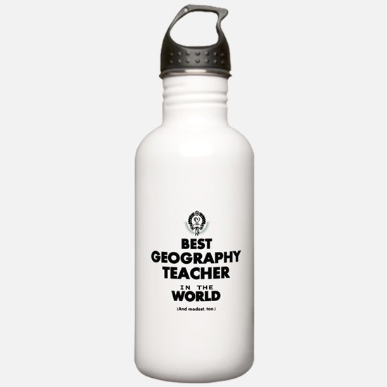Best Geography Teacher Water Bottle