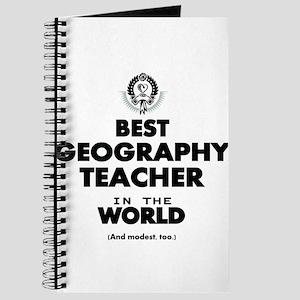 Best Geography Teacher in the World Journal