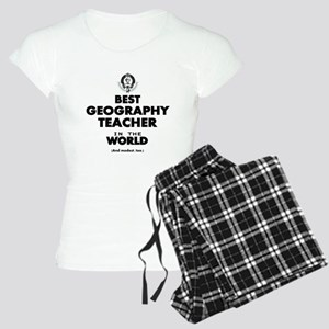 Best Geography Teacher in t Women's Light Pajamas