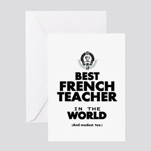 Teacher funny french greeting cards cafepress best french teacher in the world greeting cards m4hsunfo
