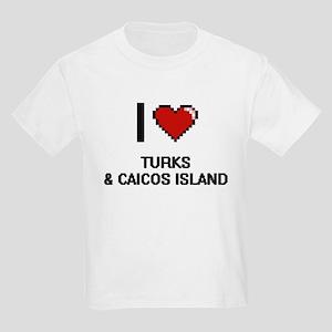 I Love Turks & Caicos Island Digital Desig T-Shirt