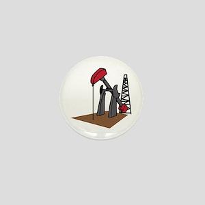 OIL RIG AND DERRICK Mini Button