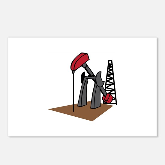 OIL RIG AND DERRICK Postcards (Package of 8)