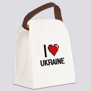 I Love Ukraine Digital Design Canvas Lunch Bag