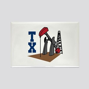OIL RIG AND TEXAS Magnets