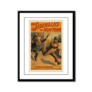 The Sidewalks Of New York Framed Panel Print