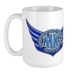 MigLogoBlue copy Mugs