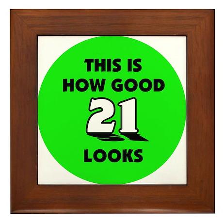21st Birthday - Happy Birthday Framed Tile
