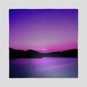Moonrise Sunset Queen Duvet