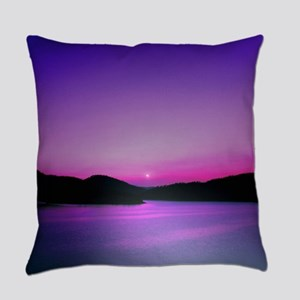 Moonrise Sunset Everyday Pillow