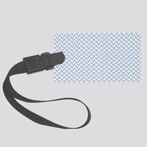 Field of Ribbons - Light Blue Large Luggage Tag