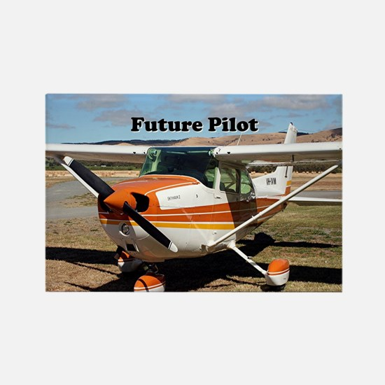 Future Pilot high wing aircraft Rectangle Magnet