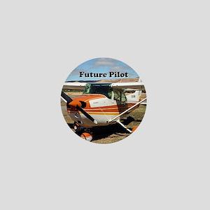 Future Pilot high wing aircraft Mini Button
