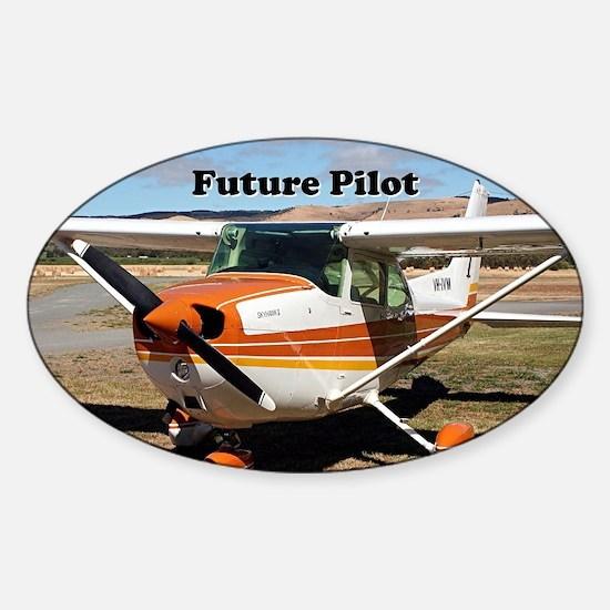 Future Pilot high wing aircraft Sticker (Oval)