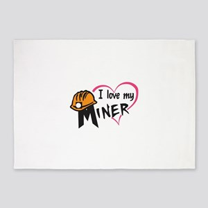 LOVE MY MINER 5'x7'Area Rug