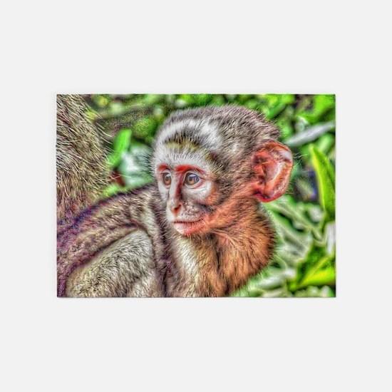 sweet monkey 5'x7'Area Rug