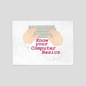 Computer Basics 5'x7'Area Rug