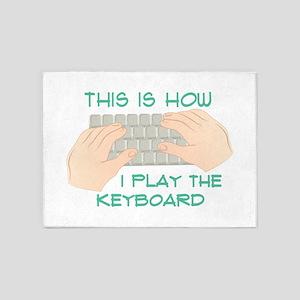 Play The Keyboard 5'x7'Area Rug