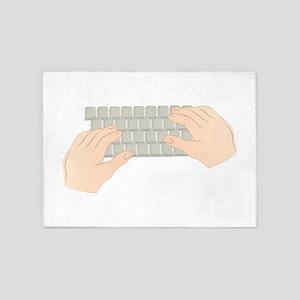 Hands On Keyboard 5'x7'Area Rug