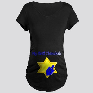 My First Chanukah Maternity Dark T-Shirt