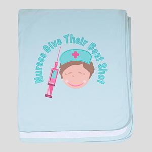 Nurses Give Shots baby blanket