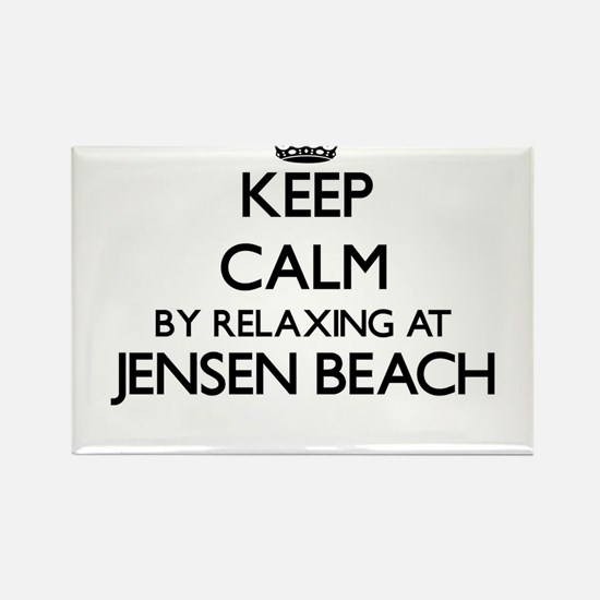 Keep calm by relaxing at Jensen Beach Flor Magnets