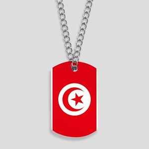 Tunisia Flag Dog Tags