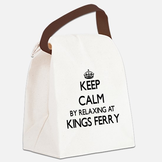 Keep calm by relaxing at Kings Fe Canvas Lunch Bag