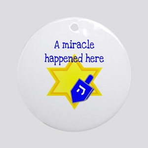 A Miracle Happened Here Ornament (Round)