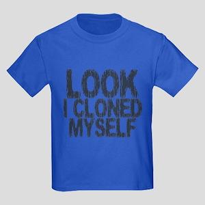 Look I Cloned Myself Kids Dark T-Shirt