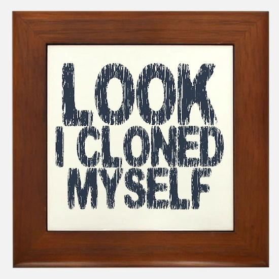 Look I Cloned Myself Framed Tile