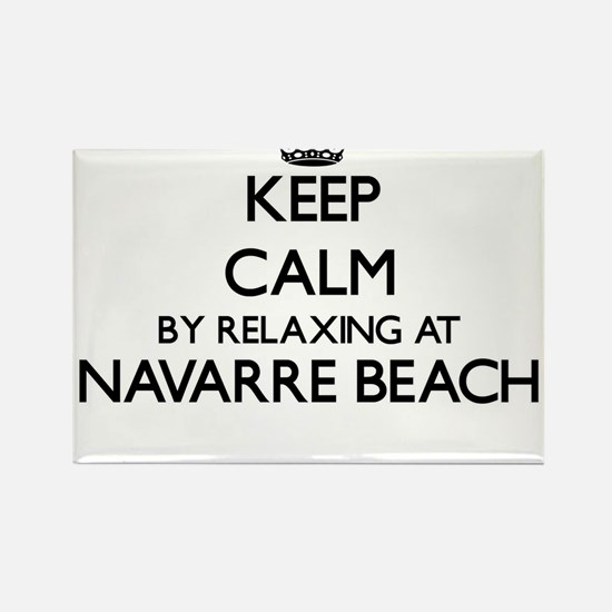 Keep calm by relaxing at Navarre Beach Flo Magnets