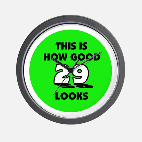 29th Birthday - Happy Birthda Wall Clock