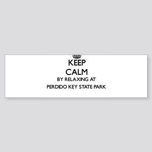 Keep calm by relaxing at Perdido Ke Bumper Sticker