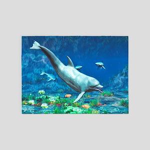 Underwater World 2 5'x7'Area Rug
