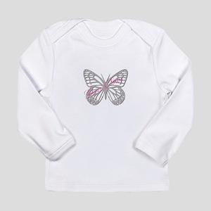 Cute Silver Butterfly Long Sleeve Infant T-Shirt