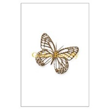 Cute Gold Butterfly Large Poster