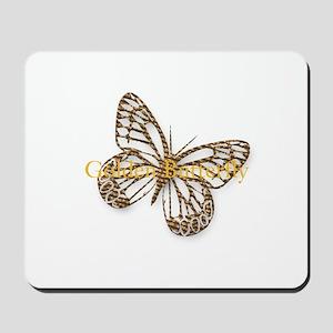 Cute Gold Butterfly Mousepad