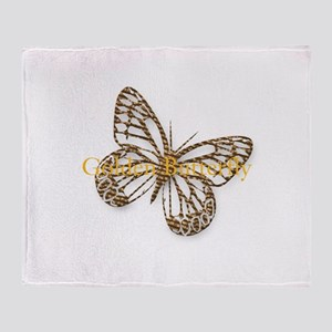 Cute Gold Butterfly Throw Blanket
