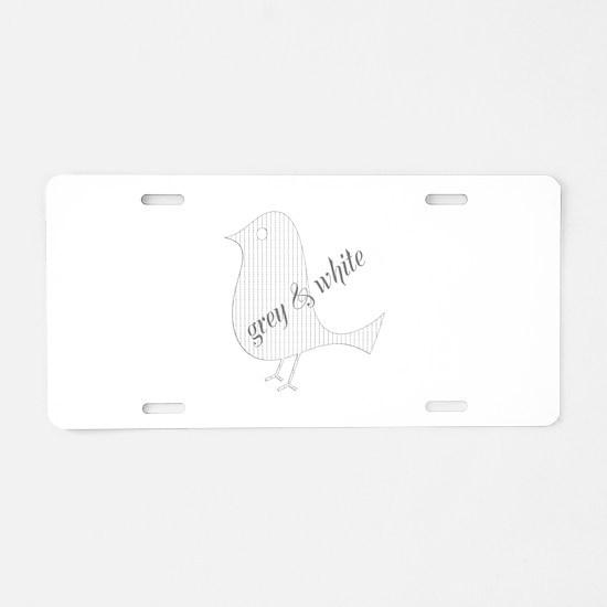 Cute Paper Bird Aluminum License Plate
