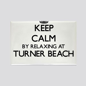 Keep calm by relaxing at Turner Beach Flor Magnets