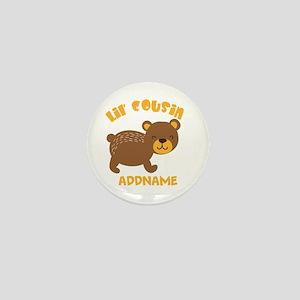 Personalized Name Little Cousin Mini Button