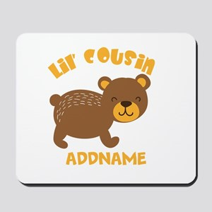 Personalized Name Little Cousin Mousepad
