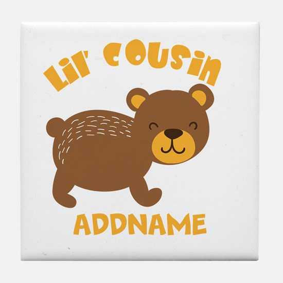 Personalized Name Little Cousin Tile Coaster