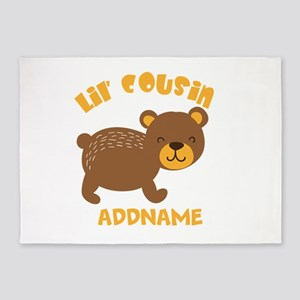 Personalized Name Little Cousin 5'x7'Area Rug