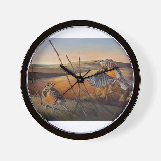 Cute Meadowlark Wall Clock